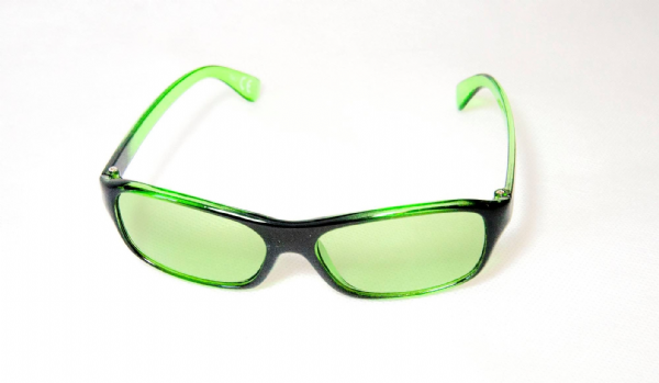 Green x 2 children's tinted glasses